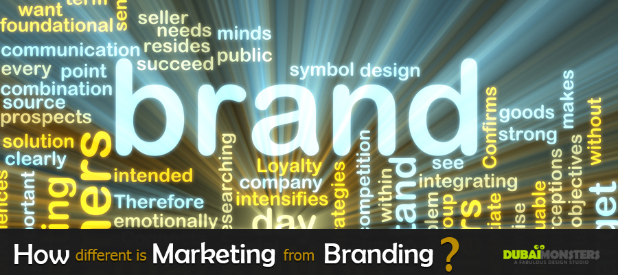 How different is Marketing from Branding