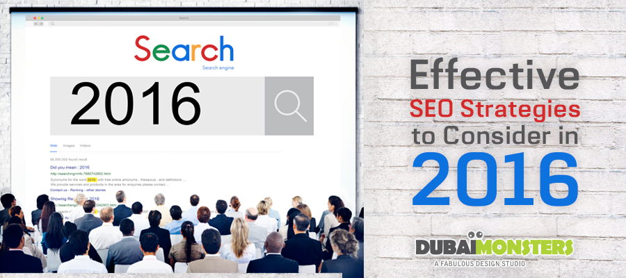 Effective SEO Strategies to Consider in 2016