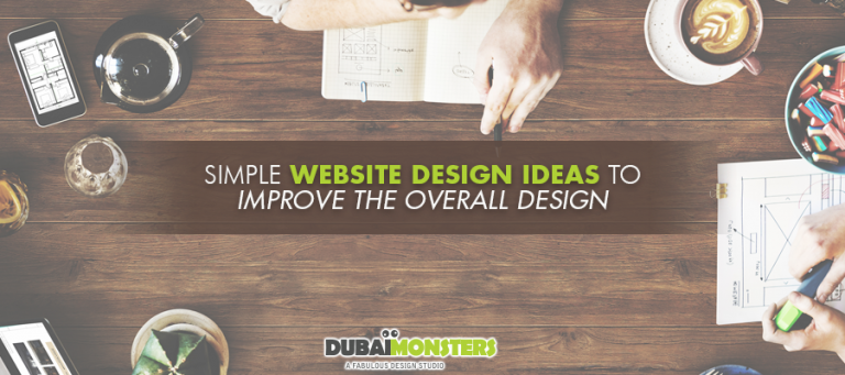 simple website design ideas to improve the overall