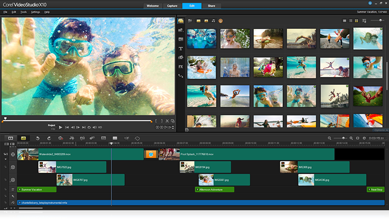 Corel VideoStudio - video editing software in 2017