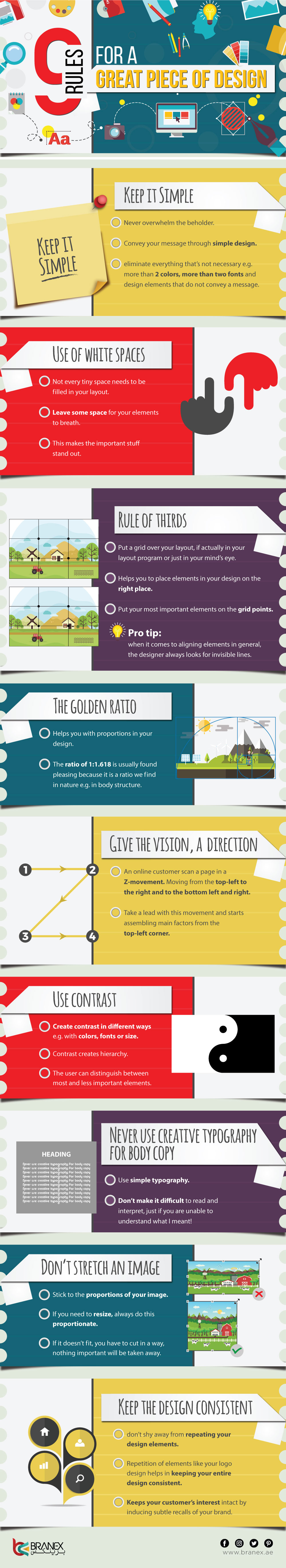 9 Rules for a Great Piece of Design – Infographics