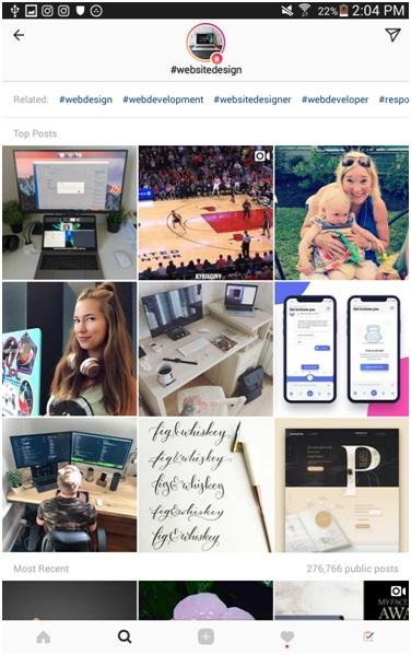 Instagram hashtag niche
