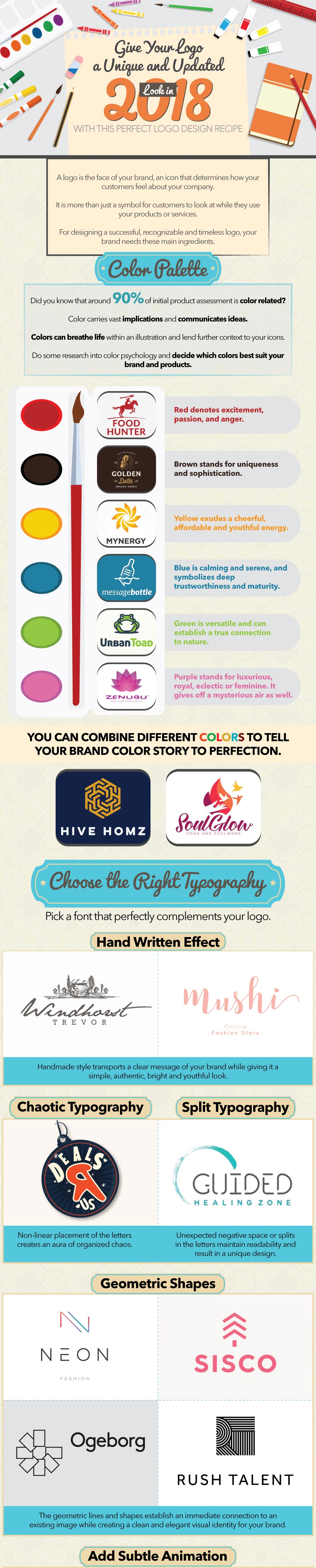 Give your Logo a Unique & Updated Look in 2018 - Infographics