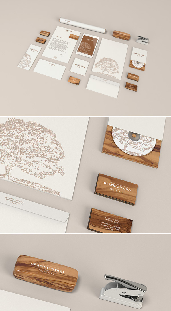 stationery-mockup-wood-Branex- UAE