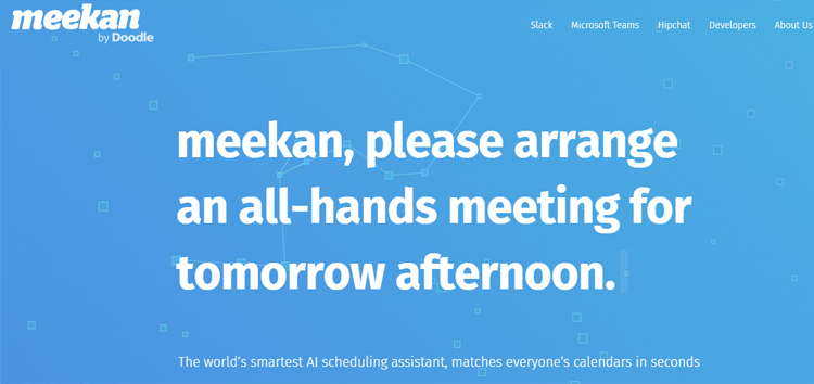 meekan Meeting scheduling app