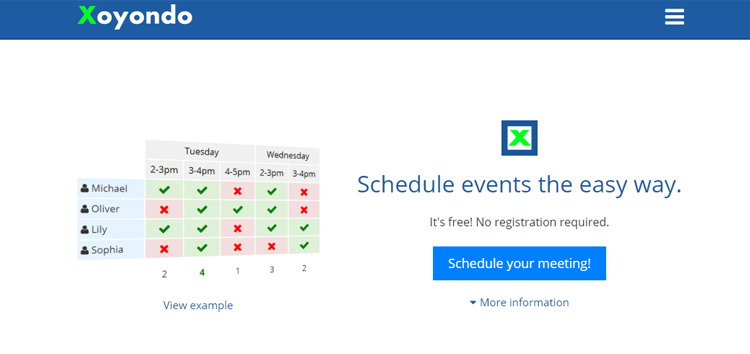 xoyondo meeting scheduler app