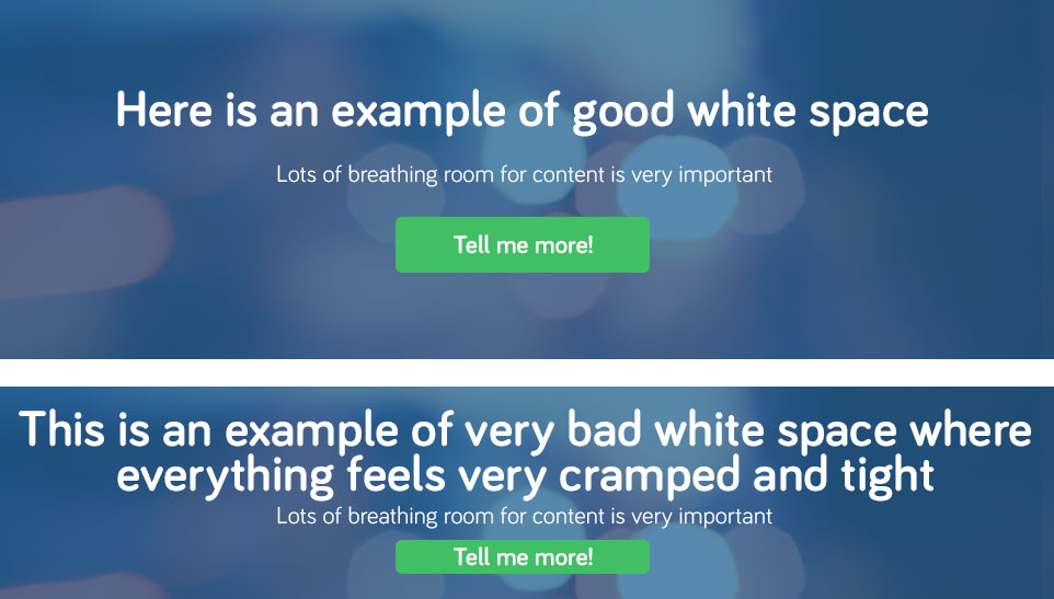 WhiteSpace website design mistakes