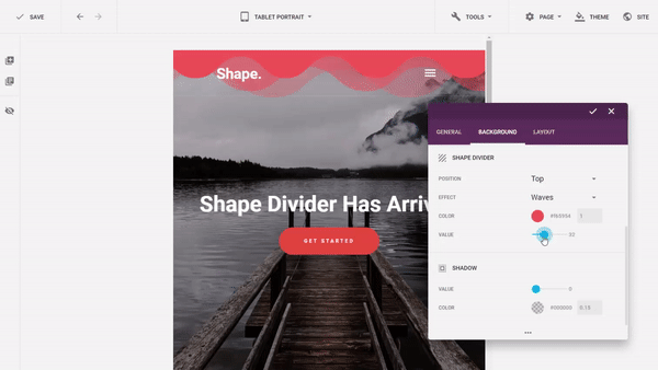The Amazing Shape Divider Feature in Elementor Plugin